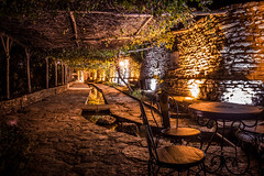 Balchik garden (Kiril Katsarski) Tags: light garden seaside lowlight nightshot chairs low tables balchik