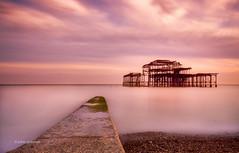 West Pier LE (pietkagab) Tags: longexposure trip travel england photography evening brighton pentax britain sightseeing filter nd k5 pentaxk5ii pietkagab piotrgaborek
