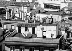 Sevilla (Bart K. Prins) Tags: panasonic lumix dmclx7 bw spain sevilla seville blackandwhite roof laundry