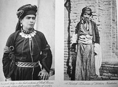 Kurdish Tribesman and Wife (Terterian - A million+ views, thanks.) Tags: vintage photography book photos brothers photographic views wife baghdad times plates collectible rare abdul 1925 studies kerim basra irag basrah kurdish kurd tribesman bygone hasso cemera