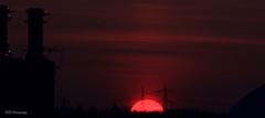 Burning Daylight (Simon Woodward Photography) Tags: sunset red sky sun sunlight skyline clouds outside dusk supershot