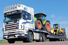 Govern (fannyfadams) Tags: uk ireland irish anglesey northwales holyhead a55 scania144l governlowloadertransport