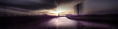 Panning widely versus Frankfurt Skyline and surroundings (lichtspur) Tags: light sunset shadow panorama blur art water skyline river dark licht movement wasser exposure sonnenuntergang view superb availablelight doubleexposure frankfurt main wide wideangle bewegung pan fluss schatten stitched merged dunkelheit weitwinkel verschwommen osthafen unschärfe doppelbelichtung