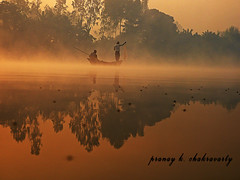 A dreamy morning (pranay chakravarty) Tags: morning winter reflection beach beauty fog river dawn bay boat fisherman beginning sailor bengal bangladesh boatman bangla bayofbengal bangali bogra bagla beangal destinatiom