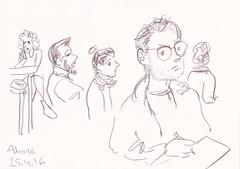 A-Trane Jazzclub Sketching  -  Detlef Surrey (Detlef Surrey) Tags: concert jazz sketchbook jazzclub skizze livemusik urbansketches