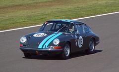 Porsche 911 (Hammerhead27) Tags: auto blue classic car sport track driving 911 stripe voiture historic silverstone porsche driver circuit 119 racer rennwagen