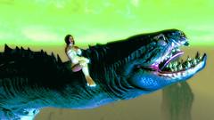 139 (Beth Amphetamines) Tags: wallpaper screenshot dragon time beth story armor brunette throne serpentine reference traveler realm mora neverending meinthegame skyrim hermaeus ridingdragon sahrotaar