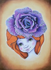 "CPM March Art Challenge #1603 ""pretty cabbage rose hat"" (da's art) Tags: drawing traditionalart veggies coloredpencils prismacolor luminance ornamentalcabbage girlportrait polychromos fantasyportrait rosecabbage derwentdrawing coloredpencilmagazineartchallenge cabbagerosehat marchartchallenge"