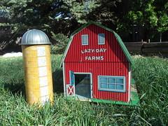 Marx Toys Lazy Day Farms (atjoe1972) Tags: christmas 1969 vintage toys time retro silo marx farms 1960s wards playset litho lazyday happi montgomeryward tinplate atjoe1972
