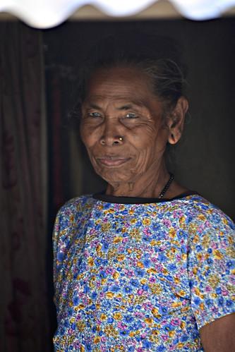 Blue eyes in Chitwan, Nepal