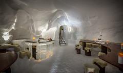 cozy bar in the Igloo Village (iSteven-ch) Tags: travel winter sculpture ice bar canon switzerland candle gornergrat zermatt wallis ch swissalps igloovillage eos6d rotenboden