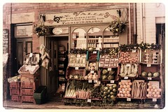 Fruit 'N' Veg Shop. (darrensphoto123) Tags: street old uk shop fruit wales photoshop 35mm vintage nikon explore shops veg llangollen explored edied d5200
