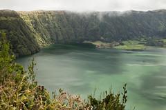 Lagoa das Sete Cidades (Steve Vallis) Tags: lake colour green portugal caldera volcanic azores