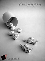 Learn from failure (-sebl-) Tags: paper origami snail arches bin strip crumpling sebl