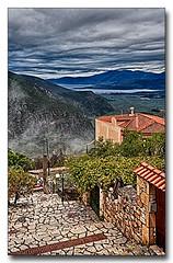 20151022_104918 (gabrielpsarras) Tags: sea sky cloud house mist mountain tree fog rural village pavement horizon delphi greece valley fokida centralgreece phocis