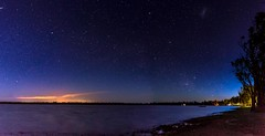 Twilight by the Lake (andrew.walker28) Tags: panorama lake night stars twilight nikon long exposure australia queensland 24mm nikkor f28 starlight broadwater dalby d7200