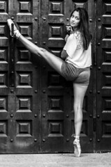 The Ballerina! (micadew) Tags: portrait urban blackandwhite fashion portraits blackwhite ballerina modeling models streetshots streetphotography streetscene brunette fashionista bnw streetwear urbanlife brownhair fashionmodel urbanscene urbanwear urbanfashion urbanshots modgirls micadew