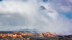 Bryce Canyon 14 (MarcCooper_1950) Tags: trees red sky orange snow colors clouds landscape utah nikon scenery rocks vivid canyon cliffs hills southern boulders hoodoo bryce rainfall hdr formations lightroom mounatins brycecanyonnationalpark geologic d810 marccooper