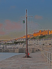 Sunset in Porthleven (jackmartin34028) Tags: sea sun storm southwest warm cornwall 2016 2015 porthleven