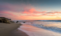 Magical Zuma (Adam.Kawasawa) Tags: ocean california longexposure light sunset sea seascape reflection beach nature water clouds landscape la losangeles seaside sand rocks whitewater peace malibu slowshutter serene waterscape