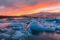 Jokulsarlon Sunset (Mark Heeney UK) Tags: sunset is iceland iceberg sonya77 markheeneyuk sal1650