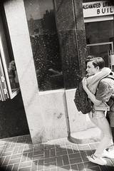AA022 (heavyasmountains) Tags: nyc newyorkcity blackandwhite slr film 35mm photography nikon candid streetphotography noflash 24mm fm3a filmphotography streetstyle