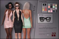 KITJA - Liza Dress (ᴋɪᴛᴊᴀ) Tags: sunglasses secondlife maitreya slink meshbody kitja fameshed fittedmesh slinkphysique maitreyalara slinkhourglass