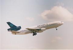 V2-LER DC10-15 SKYJET AT MANCHESTER (fletcher595) Tags: manchester douglas dc10 trijet skyjet dc1015 v2ler cn48294
