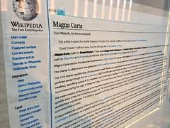 Cornelia Parker - Magna Carta (An Embroidery) (breakbeat) Tags: history university stitch embroidery contemporaryart sewing library craft exhibition oxford wikipedia weston bodleian magnacarta corneliaparker