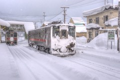 Otoineppu Station on JAN 04, 2016 (1) (wakkanai097) Tags: winter japan nikon hokkaido hdr p7700