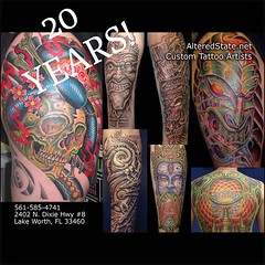Blast pics from the past...This year marks our 20 year anniversary in the same location since 1996, thanks to everyone for supporting Lake Worth's longest running tattoo shop!!! Anniversary party art show will be in August details tba soon!