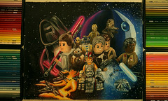 STAR WARS The LEGO Force Awakens (Kitslam's Art) Tags: color colour art illustration toy star starwars timelapse force lego drawing space mashup disney fanart r2d2 scifi fi wars deathstar sci c3po pencilcolour awakens youtube pencilcolor scify