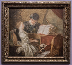 2015/12/11 18h18 Jean-Honor Fragonard, La Leon de musique (vers 1765-1770), exposition Fragonard (Valry Hugotte) Tags: paris france painting ledefrance muse peinture exposition tableau musique fragonard museduluxembourg jeanhonorfragonard laleondemusique