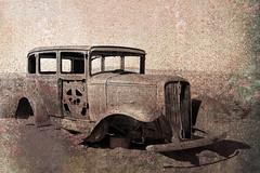 IMG_3450 R (C&C52) Tags: vintage landscape voiture paysage extérieur désert épave artnumérique