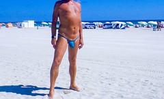 blue rocket (bmicro2000) Tags: man male bikini thong tiny gstring bulge minimalswimwear microkini thongman microbeachwear