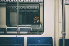 (Bonny van Straten) Tags: color reflection netherlands train nikon nederland delft february zelfportret trein februari weerspiegeling kleur d300 2016 spoortunnel nikond300