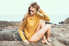 Rubia (Marta Nrgaard) Tags: portrait film beach girl face fashion closeup canon vintage outdoors 50mm spain model photographer indie editorial belgian freelance lightroom fahion fashioneditorial fashionphotographer editorialphotographer