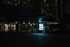 Glow (asaresult) Tags: street city people urban building night photography lights singapore fuji streetphotography hdb x20 2016