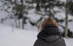 Exploring in the snow (curtisbeimborn) Tags: white snow mountains bokeh canonfd200mmf4