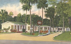 Jackson's Motor Court - Holly Hill, Florida (The Cardboard America Archives) Tags: vintage florida postcard motel 1952 hollyhill motorcourt