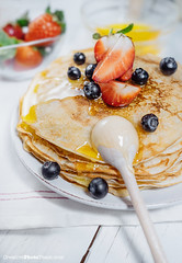 Pancakes with freash strawberry, blueberry and honey (CreativePhotoTeam.com) Tags: morning food white hot cake closeup fruit breakfast dessert lunch cuisine maple healthy strawberry berry sweet background cook tasty plate nobody fresh stack gourmet delicious blueberry eat health homemade honey butter pile snack meal brunch syrup taste pancake diet cooked hotcakes pour culinary isolated pouring stacked nutrition appetizing appetite bliny