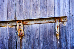 Barn Door Blues (Jae at Wits End) Tags: door wood old blue color building texture metal architecture barn rural rust colorful outdoor decay farm country rustic entrance rusty places structure pale storage wear doorway faded worn oxidation weathered opening portal multicolored corrosion entry bleached faint patina corroded outbuilding oxidized discolored