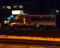 Island Transit Route 411W Pulling Into March's Point at Night (AvgeekJoe) Tags: nightphotography bus night nikon publictransportation nightshot masstransit dslr panning masstransportation nightphotograph islandtransit d5300 route411w nikond5300