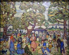 Prendergast, Landscape with Figures, No. 2 (Willows, Salem), 1918