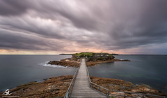 Bare Island sunrise - Australia Day 2016 (Seany99) Tags: ocean bridge sunrise island rocks australiaday laperouse bareisland australiaday2016