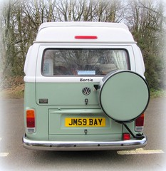 ' Beautiful  Bertie ' * the 21st Century Type 2 VW Camper van..* (John(cardwellpix)) Tags: 2005 uk 2 by vw bristol with engine surrey type brazilian plus produced watercooled outfitted danburys sunday21stfebruary2016beautifulbertiebrazilianvwcampertheupdatedvwtransportercampernewlandscorner alburymerrowguildford
