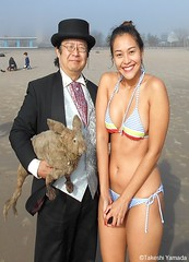 Dr. Takeshi Yamada and Seara (Coney Island Sea Rabbit) at the winter swimming event by the Coney Island Polar Bear Club at the Coney Island Beach in Brooklyn, New York on January 10 (Sun), 2015.  mermaid.  20160110Sun DSCN3331=2015pC3. Ikkyuu (searabbits23) Tags: winter ny newyork sexy celebrity art beach fashion animal brooklyn asian coneyisland japanese star yahoo costume tv google king artist dragon god cosplay manhattan wildlife famous gothic goth performance pop taxidermy cnn tuxedo bikini tophat unitednations playboy entertainer samurai genius donaldtrump mermaid amc mardigras salvadordali billclinton hillaryclinton billgates aol vangogh curiosities bing sideshow jeffkoons globalwarming takashimurakami pablopicasso steampunk damienhirst cryptozoology freakshow barackobama polarbearclub seara immortalized takeshiyamada museumofworldwonders roguetaxidermy searabbit ladygaga climategate