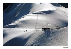 La Corde. (P.LeToq) Tags: mountain nature montagne alpes lumiere paysage chamonix contrejour alpinisme aiguilledumidi treeking corde almps