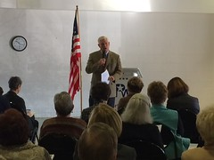 Pete Sessions participating in the Northwood Republican Womens Club Candidate Forum