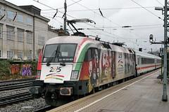 P2170693 (Lumixfan68) Tags: u2 ic siemens eisenbahn db 64 es bahn intercity deutsche lok 182 baureihe mrce dispolok eurosprinter elektroloks werbeloks drehstromloks
